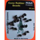 Cone Rubber Beads 20pcs