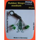 Rubber Stops Medium 20pcs